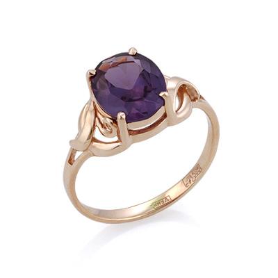 Золотое кольцо с александритом (синт.) 3.3 г SL-0249-350