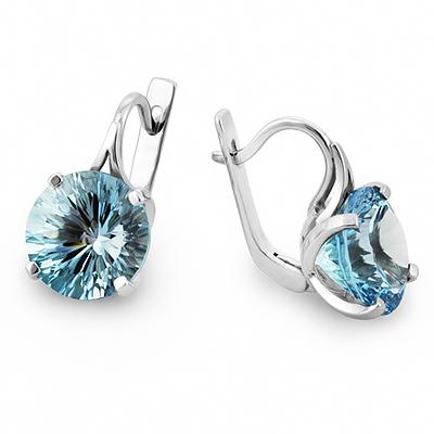 8caa9fb4651c Серебряные серьги с голубым топазом